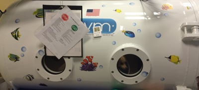 Hyperbaric Oxygen Therapy Chamber.